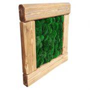 obraz-stare-drewno-old-wood-56x56cm-56-56-drewniany-mech-poduszkowy-ciemny-ciemnozielony-ball-pillow-moss