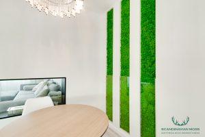Decorative ball moss for interior decoration design elements
