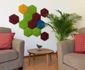 Hex moss on wall
