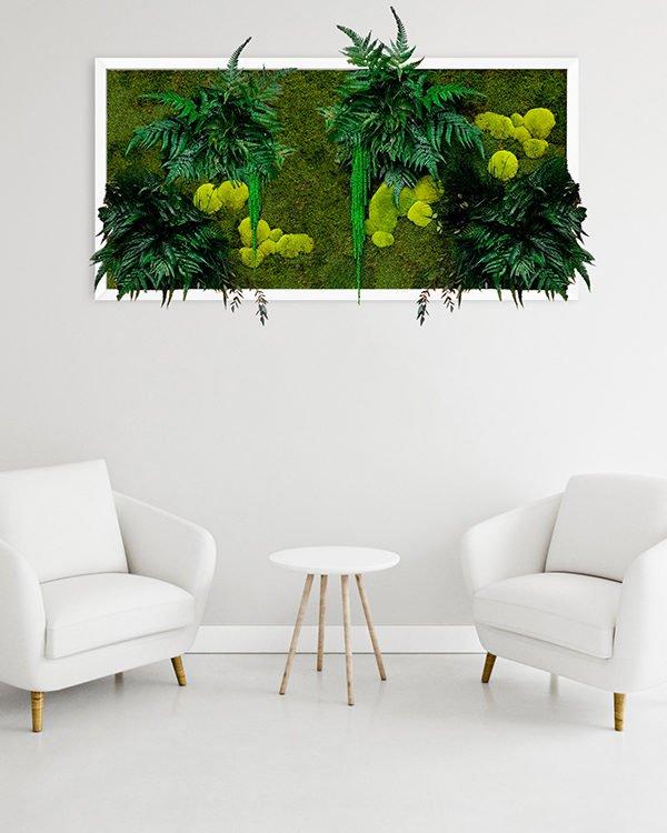 obraz z mchu i roślin stabilizowanych
